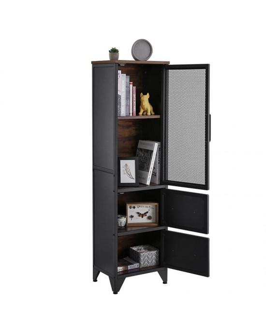 Ντουλάπι δαπέδου 40X30X1.40 cm με 3 ντουλάπια και μεταλλικό πλαίσιο Intustrial-LSC054B01