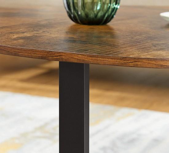 Τραπέζι Σαλονιού στρογγυλό Φ88 x Υ47εκ. Vintage-Sophia