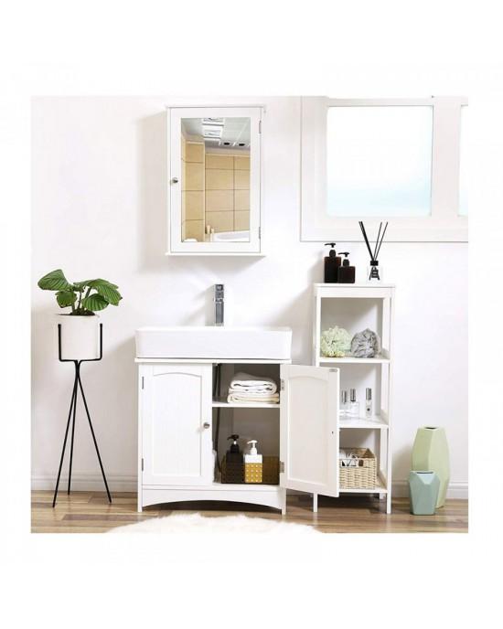 Έπιπλο μπάνιου Paros 60 x 60 x 30 cm σε λευκό mdf laccato