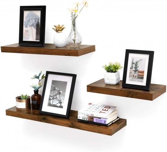 Ράφι Κρεμαστό με εμφάνιση ξύλου 40 x 20 x 3,8 cm Vintage - Sophia-LWS24BX
