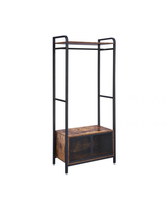 Κρεμάστρα Μεταλλική 180 x 80 x 40 cm δαπέδου με ντουλάπι-Sophia-XHSR22BX